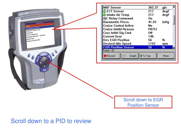 Scroll down to a PID to review