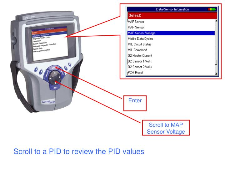Scroll to a PID to review the PID values