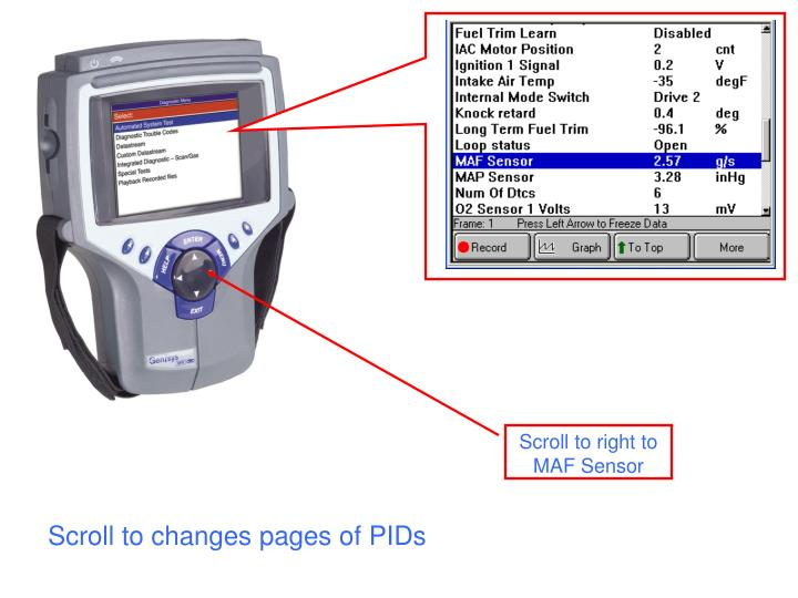 Scroll to changes pages of PIDs