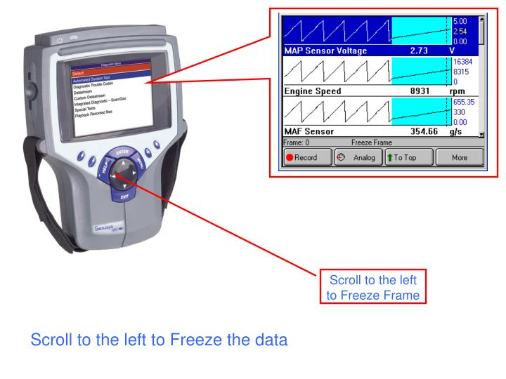 Scroll to the left to Freeze the data