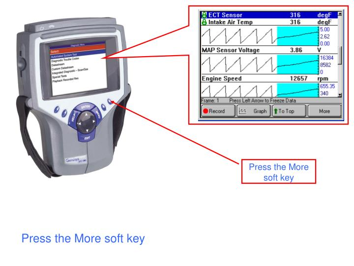 Press the More soft key