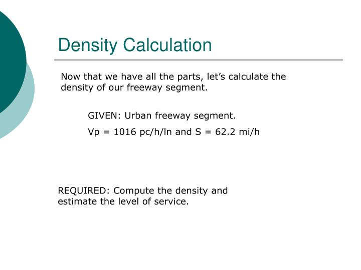 Density Calculation