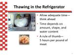 thawing in the refrigerator