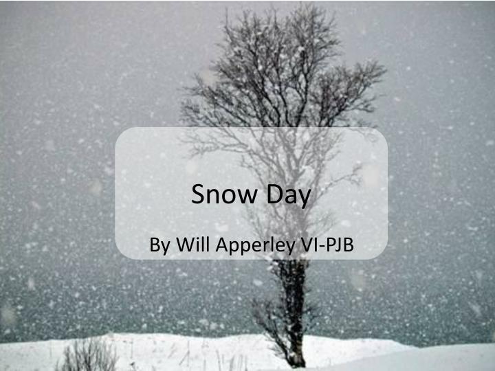 snow day n.