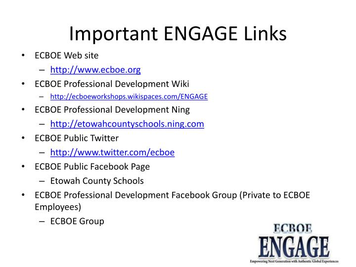 Important ENGAGE Links