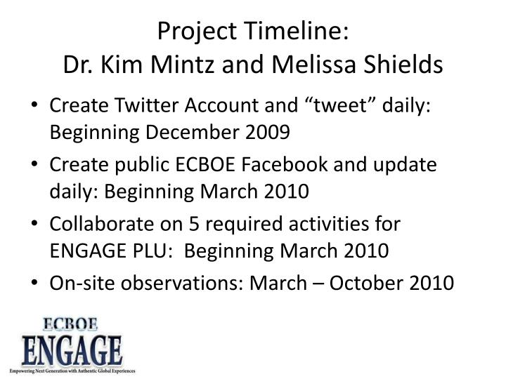 Project Timeline: