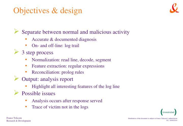 Objectives design