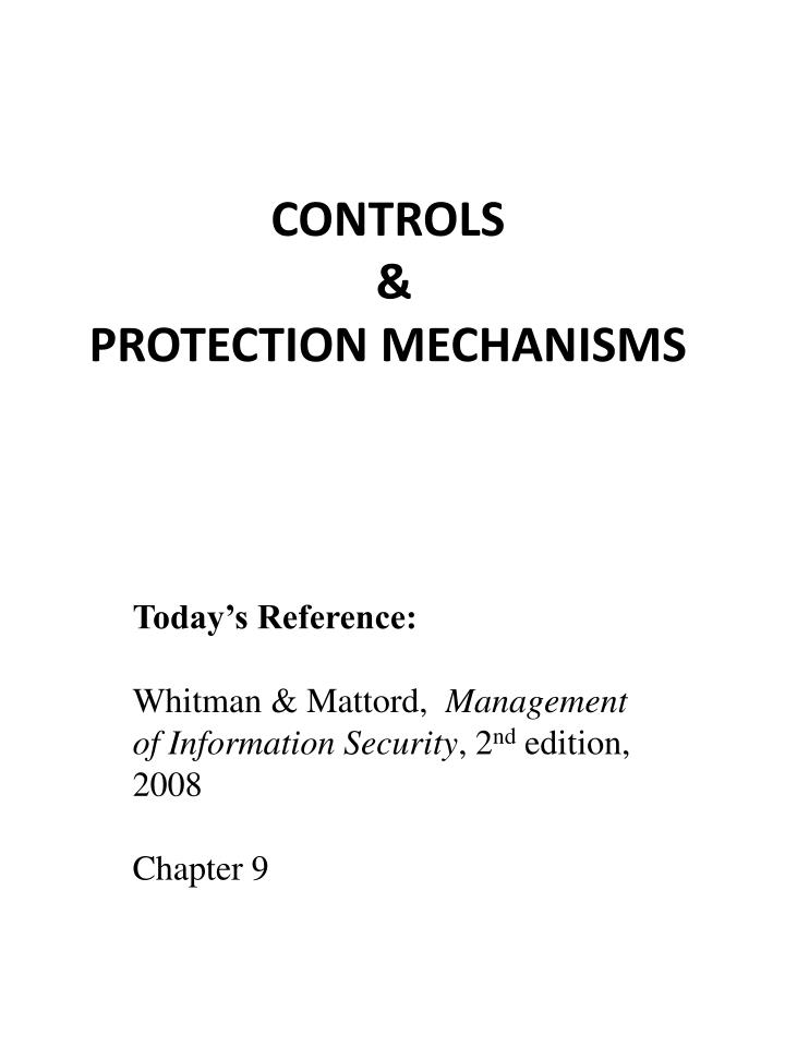 Controls protection mechanisms