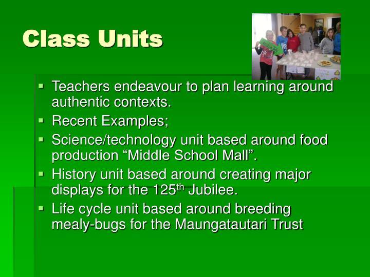 Class Units