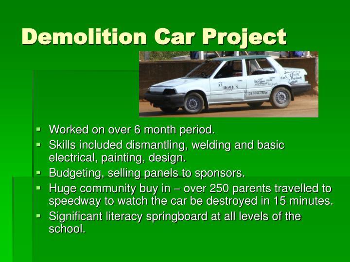 Demolition Car Project