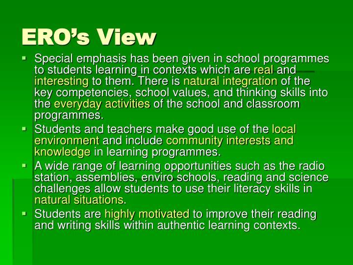 ERO's View
