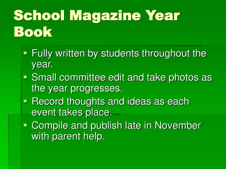School Magazine Year Book