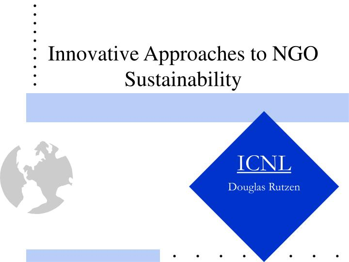 innovative approaches to ngo sustainability n.