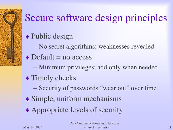Secure software design principles