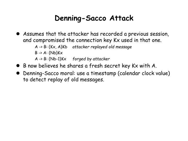 Denning-Sacco Attack