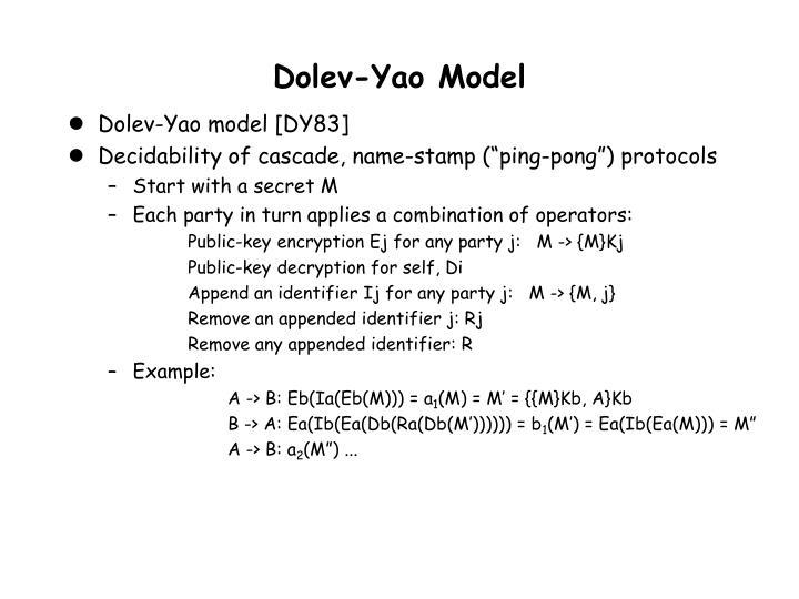Dolev-Yao Model