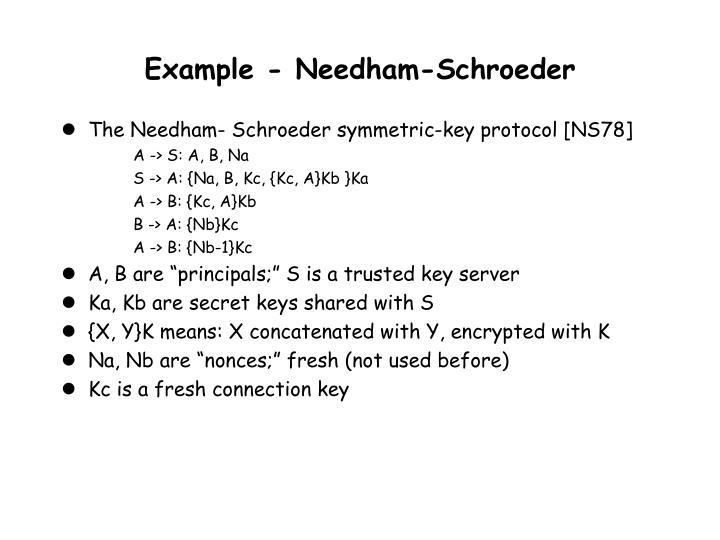 Example - Needham-Schroeder
