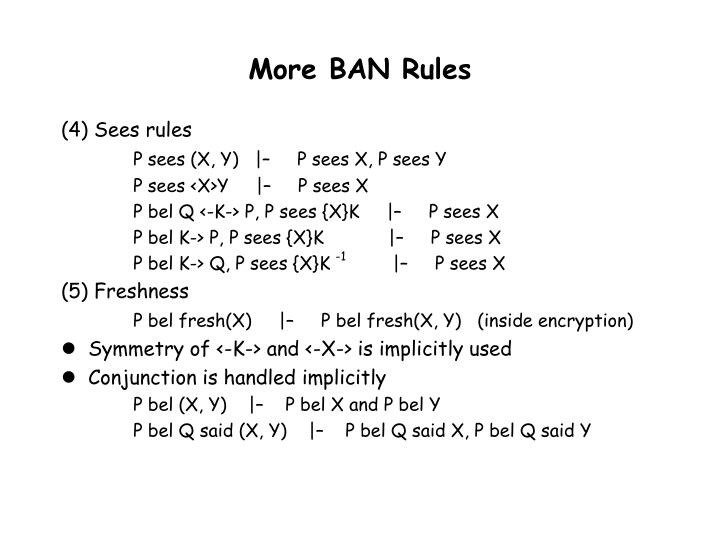 More BAN Rules