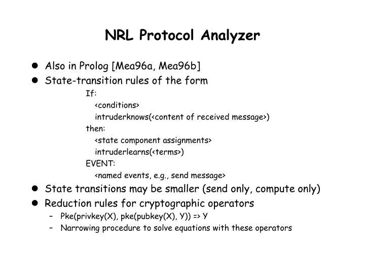 NRL Protocol Analyzer