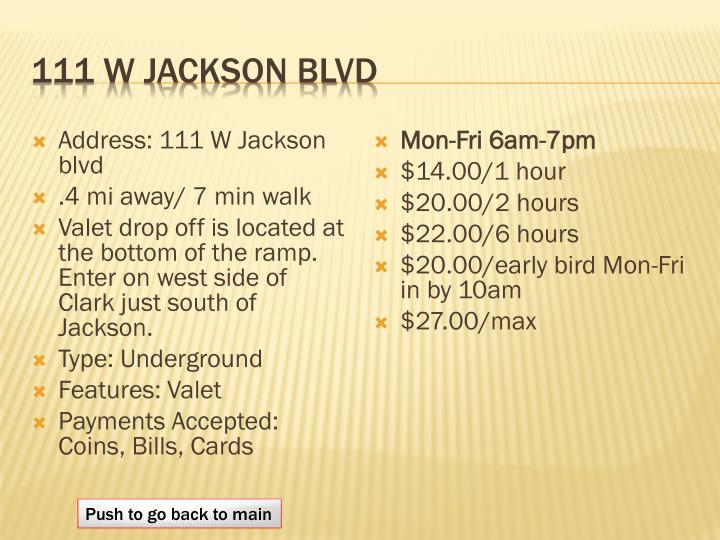 111 W Jackson blvd