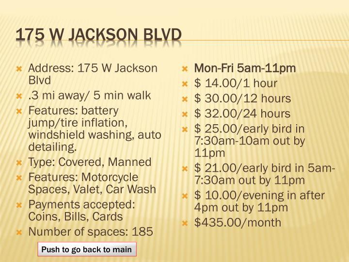 175 W Jackson BLVD