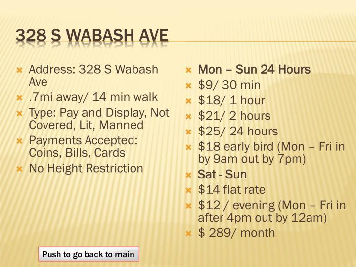 328 s Wabash Ave