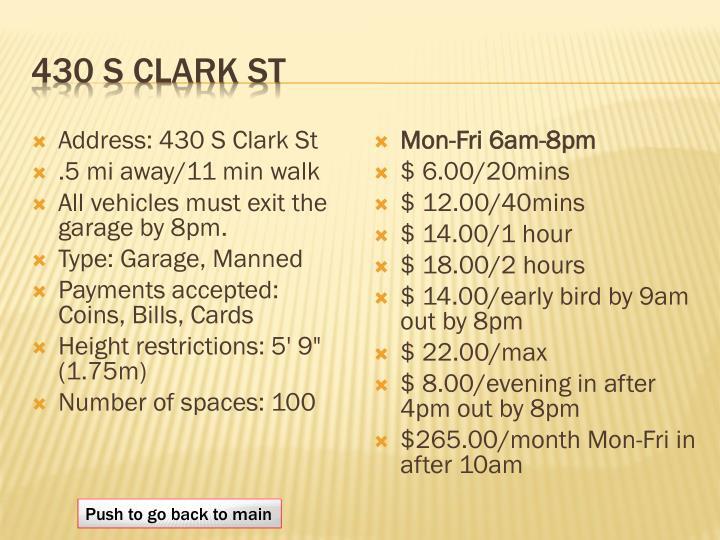 430 S Clark St