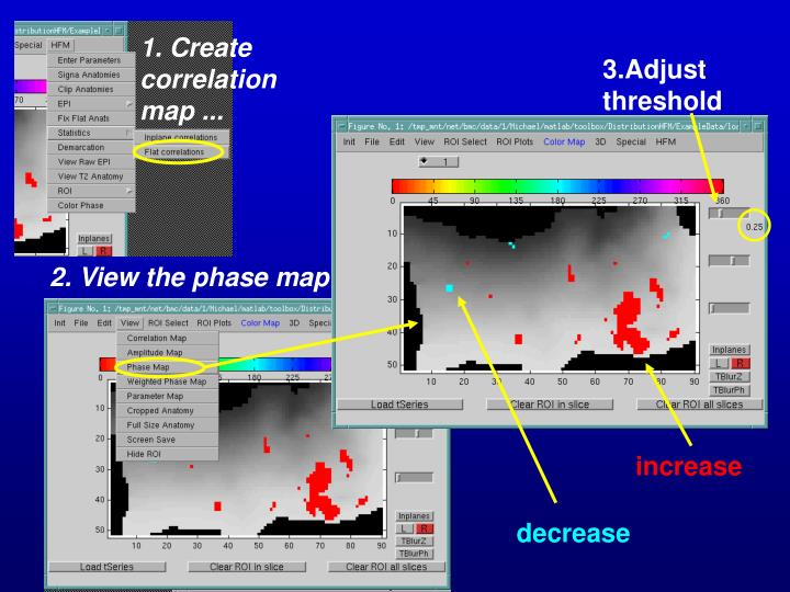 1. Create correlation map ...