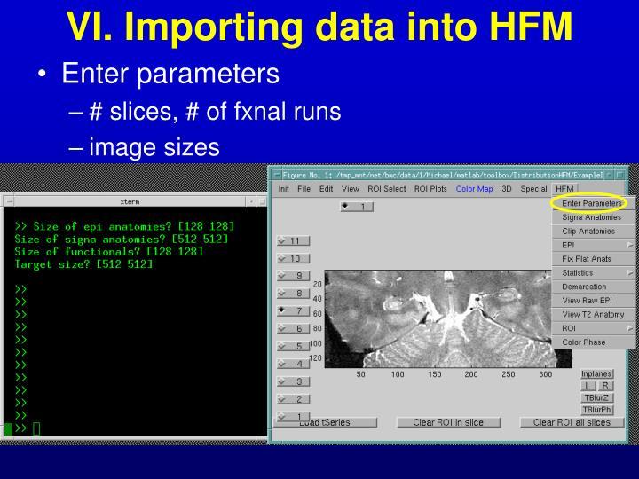 VI. Importing data into HFM