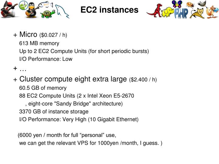 EC2 instances