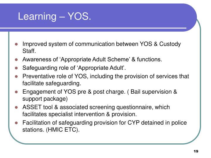 Learning – YOS.