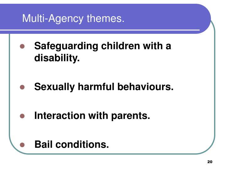 Multi-Agency themes.