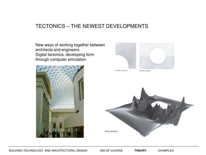 TECTONICS – THE NEWEST DEVELOPMENTS