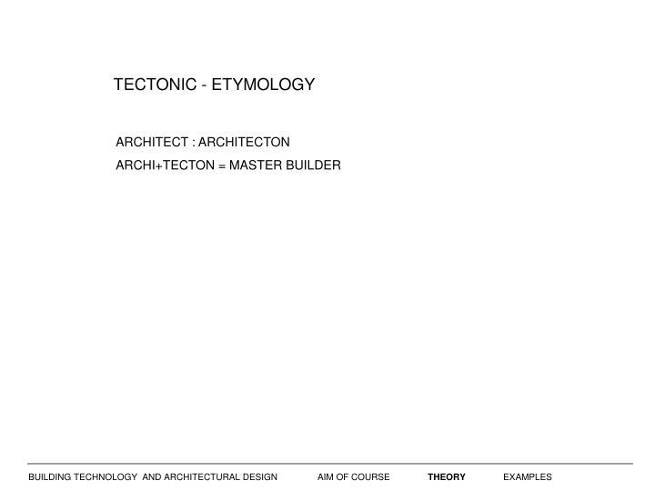 TECTONIC - ETYMOLOGY
