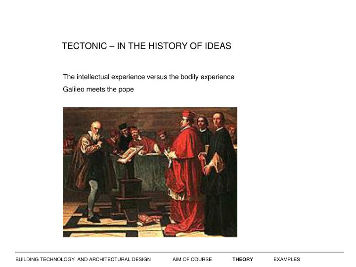 TECTONIC – IN THE HISTORY OF IDEAS