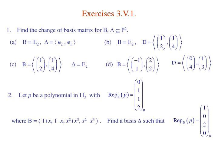 Exercises 3.V.1.