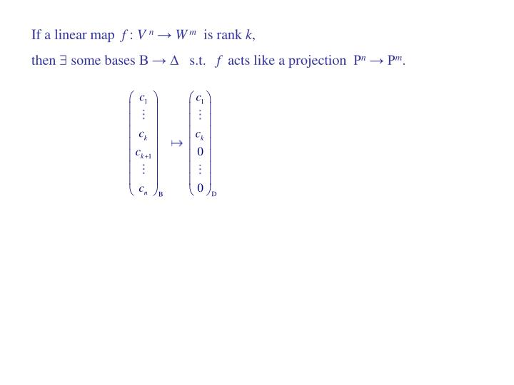 If a linear map