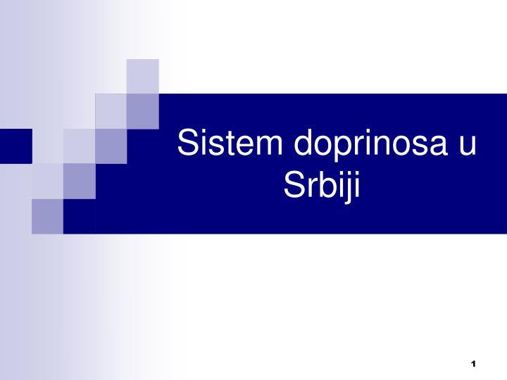 sistem doprinosa u srbiji n.