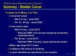 summary bladder cancer