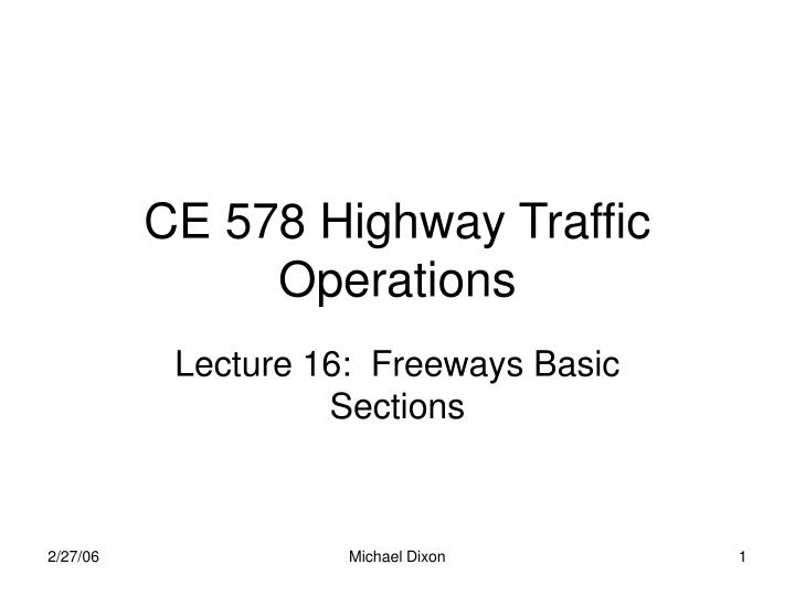 ce 578 highway traffic operations n.