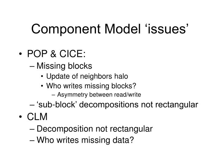 Component Model 'issues'