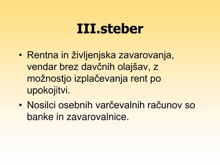 III.steber