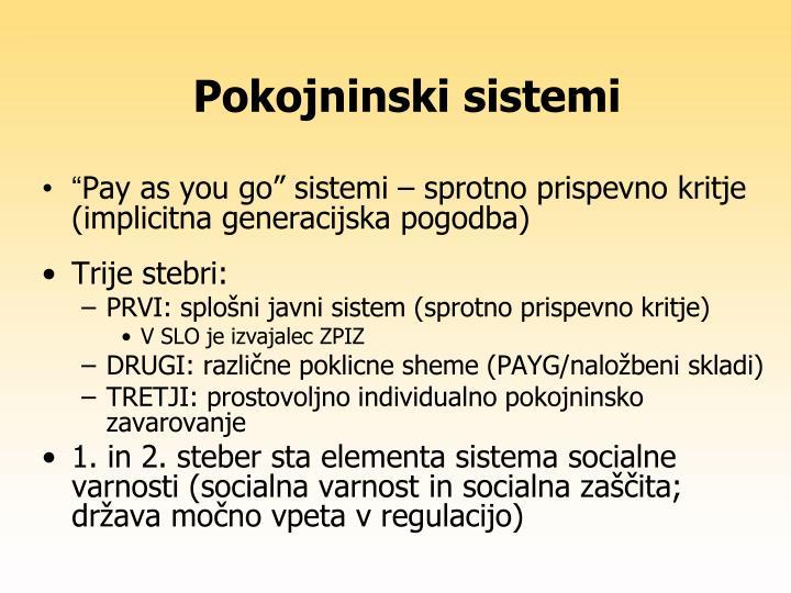 Pokojninski sistemi