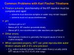common problems with karl fischer titrations