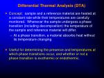 differential thermal analysis dta