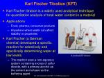 karl fischer titration kft