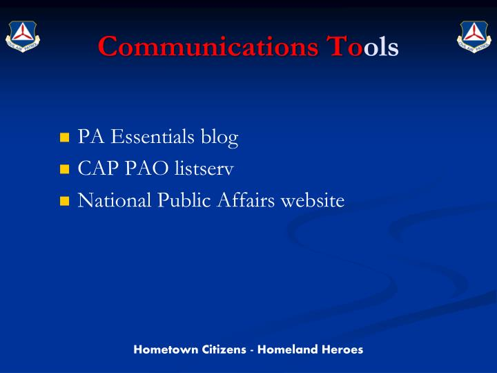 Communications To