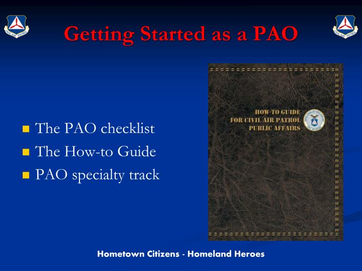 Getting Started as a PAO