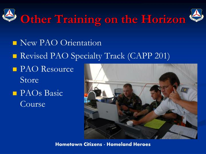 Other Training on the Horizon