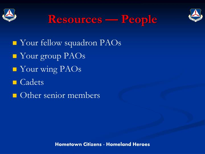 Resources people